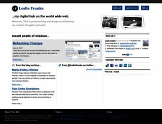 lesliefranke.com screenshot