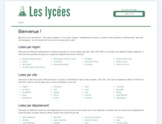 leslycees.fr screenshot