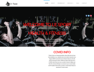 lesporthealthandfitness.co.uk screenshot