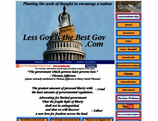 lessgovisthebestgov.com screenshot