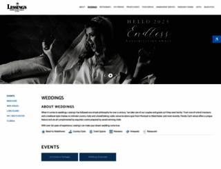 lessingsweddings.com screenshot