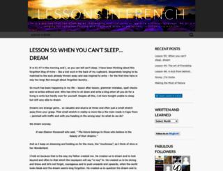 lessonsinfrench.wordpress.com screenshot