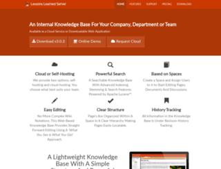 lessonslearnedserver.com screenshot
