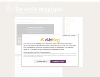 lestylomagique.eklablog.fr screenshot