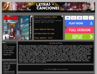 letras-canciones.net screenshot