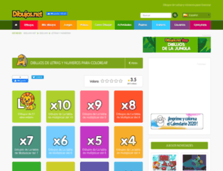letras-y-numeros.dibujos.net screenshot