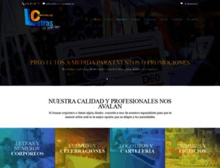 letrascorporeas.es screenshot