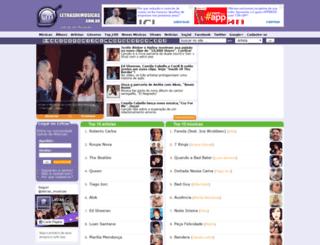 letrasdemusicas.com.br screenshot