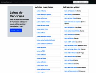 letrasymas.com screenshot