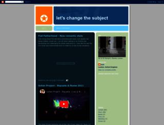 letschangethesubject.blogspot.com.tr screenshot