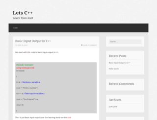 letscpp.wordpress.com screenshot