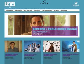 letsfestival.cat screenshot