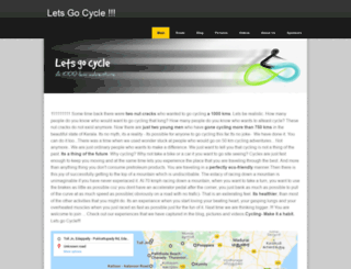 letsgocycle.in screenshot