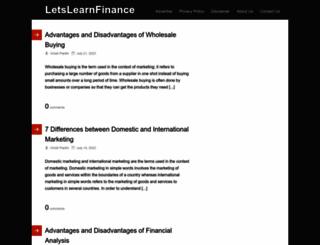 letslearnfinance.com screenshot