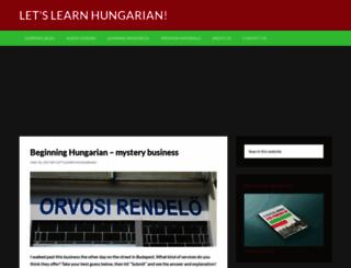 letslearnhungarian.net screenshot