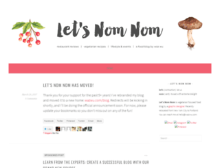 letsnomnom.wordpress.com screenshot