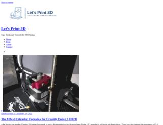 letsprint3d.net screenshot