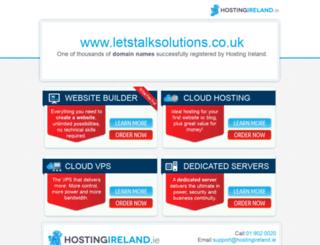 letstalksolutions.co.uk screenshot