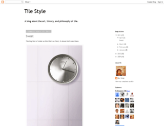 letstalktile.blogspot.com screenshot