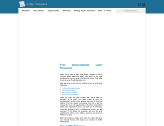 letter-samples.com screenshot