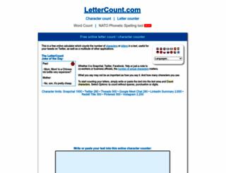 lettercount.com screenshot