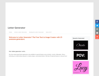 lettergenerator.net screenshot