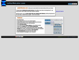 lettermelater.com screenshot
