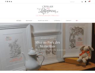 letterpress.fr screenshot