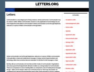 letters.org screenshot