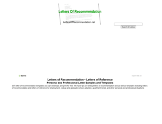 lettersofrecommendation.net screenshot