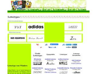 lettertypes.eu screenshot