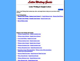 letterwritingguide.com screenshot