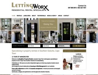 lettingworx.co.za screenshot