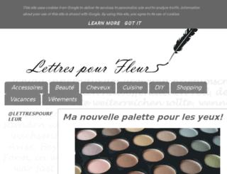 lettres-pour-fleur.blogspot.de screenshot