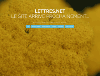 lettres.net screenshot