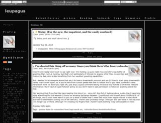 leupagus.dreamwidth.org screenshot
