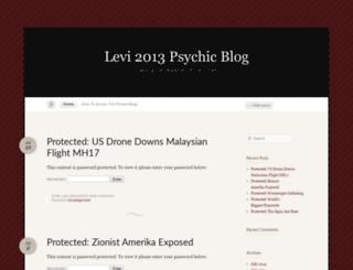 levi2013psychicblog.wordpress.com screenshot