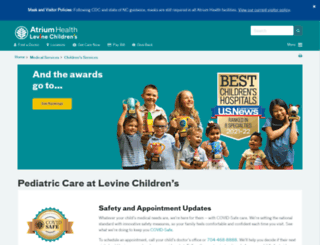 levinechildrenshospital.org screenshot