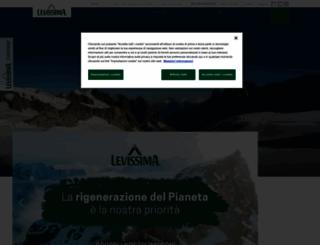 levissima.it screenshot
