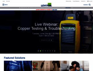 leviton.com screenshot