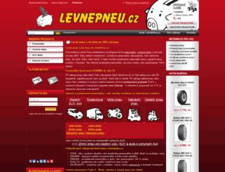 levnepneu.cz screenshot
