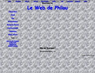 lewebdephilou.free.fr screenshot