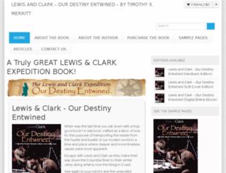 lewisandclarkbook.com screenshot