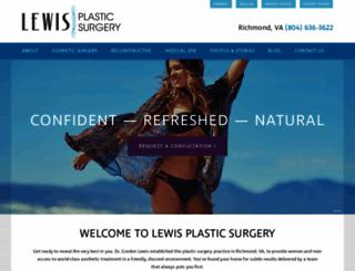 lewisplasticsurgery.com screenshot