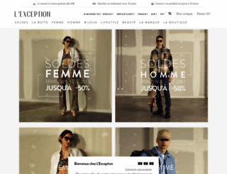 lexception.lexception.com screenshot