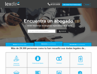 lexdir.com screenshot