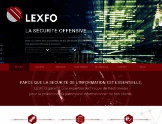 lexfo.fr screenshot