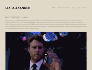 lexi-alexander.com screenshot