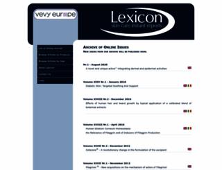 lexicon.vevy.com screenshot