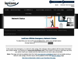 lexiconnstatus.com screenshot